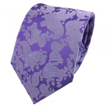 Designer Krawatte aus Seide in blau mit blau gelben Paisley-Muster