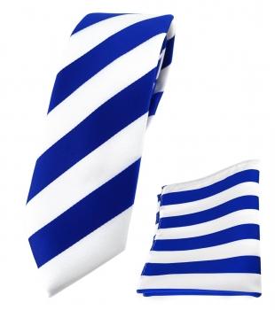 TigerTie Krawatte gr/ün blau schwarz silber gestreift Krawatte Tie
