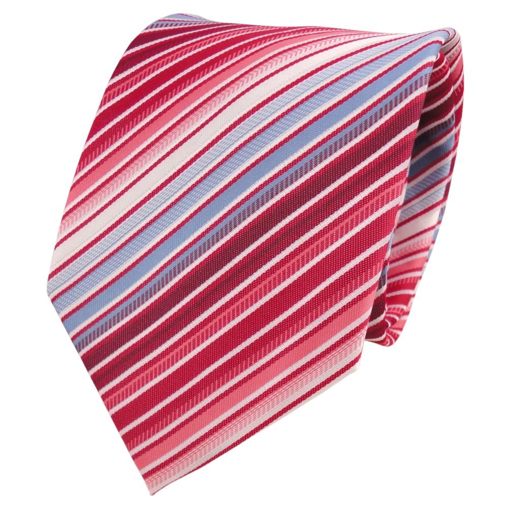 designer krawatte rot blau hellblau wei creme gestreift krawattennadel der faire topshop. Black Bedroom Furniture Sets. Home Design Ideas