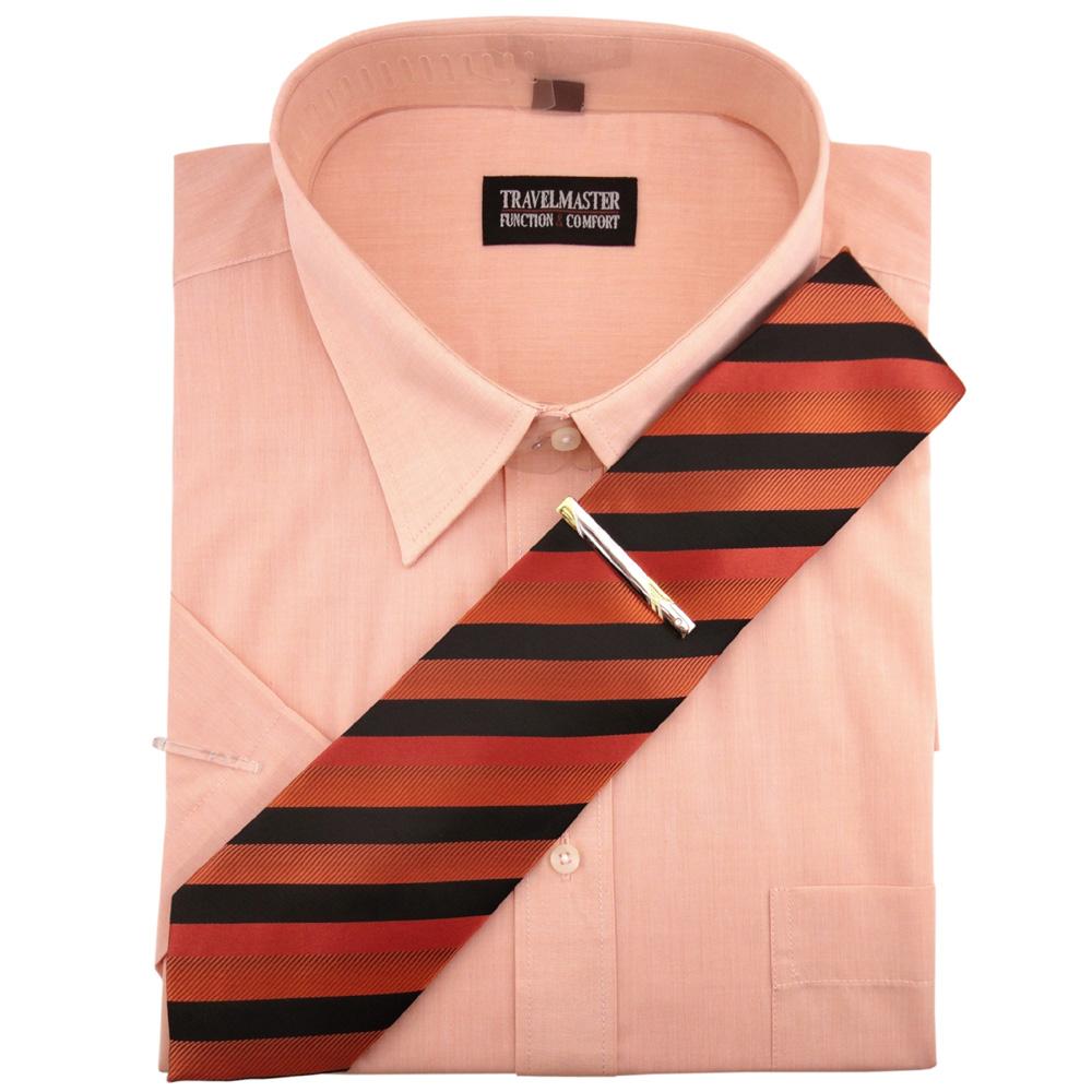 pretty nice e2a25 087a5 TRAVELMASTER Business Herrenhemd lachs Hemd Gr.45/46 XXL kurzarm Krawatte  Nadel