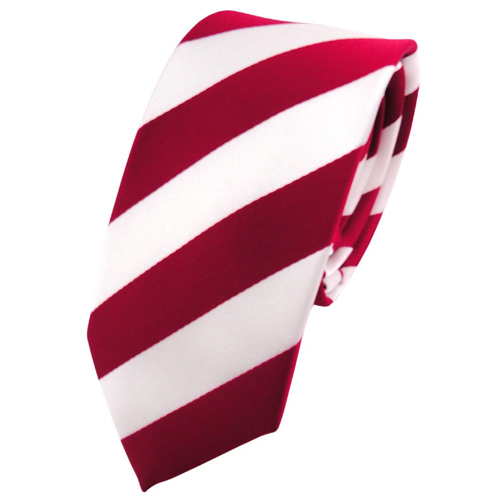 schmale tigertie kinderkrawatte rot signalrot weiss gestreift krawatte schlips der faire topshop. Black Bedroom Furniture Sets. Home Design Ideas