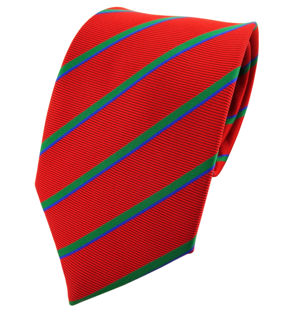 TigerTie Schmale Seidenkrawatte braun dunkelbraun blau gestreift Krawatte Seide