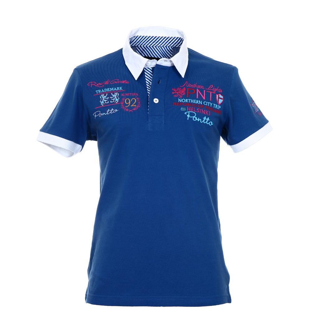 pontto herren designer polo hemd shirt blau kurzarm gr s polohemd poloshirt der faire topshop. Black Bedroom Furniture Sets. Home Design Ideas