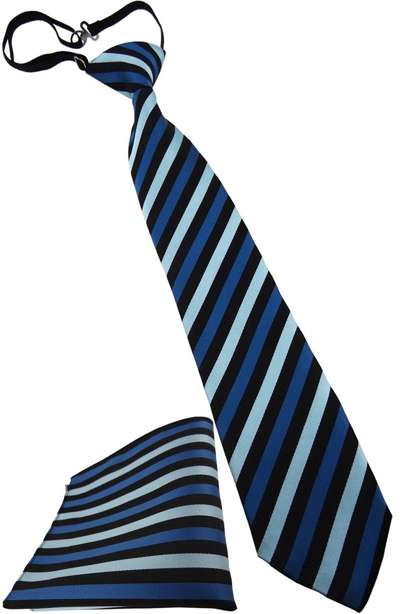 TigerTie Security Sicherheits Krawatte in rot Uni einfarbig vorgebunden Gummizug in schwarz