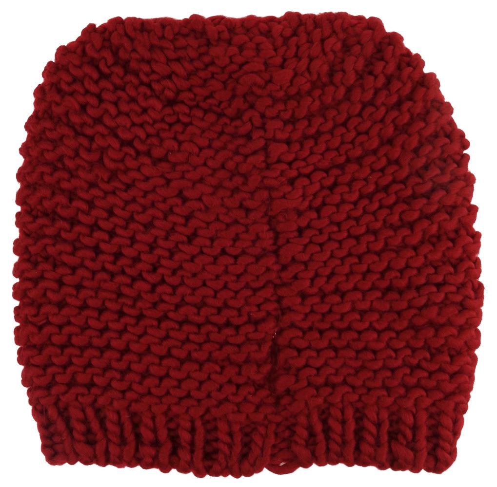 bester Wert am beliebtesten einzigartiges Design Damen Strickmütze rot dunkelrot Uni - Wintermütze Mütze Größe M