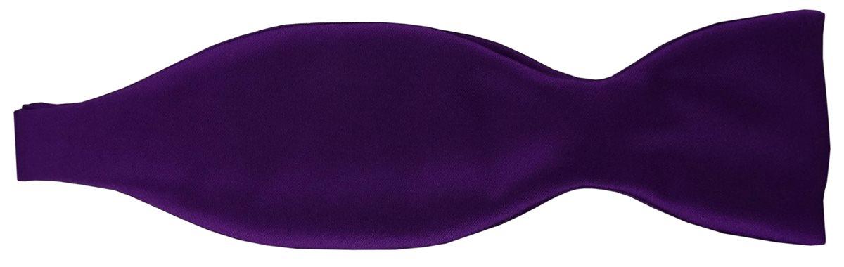 Geschenkbox TigerTie Satin Selbstbinder Fliege in dunkles lila Uni einfarbig