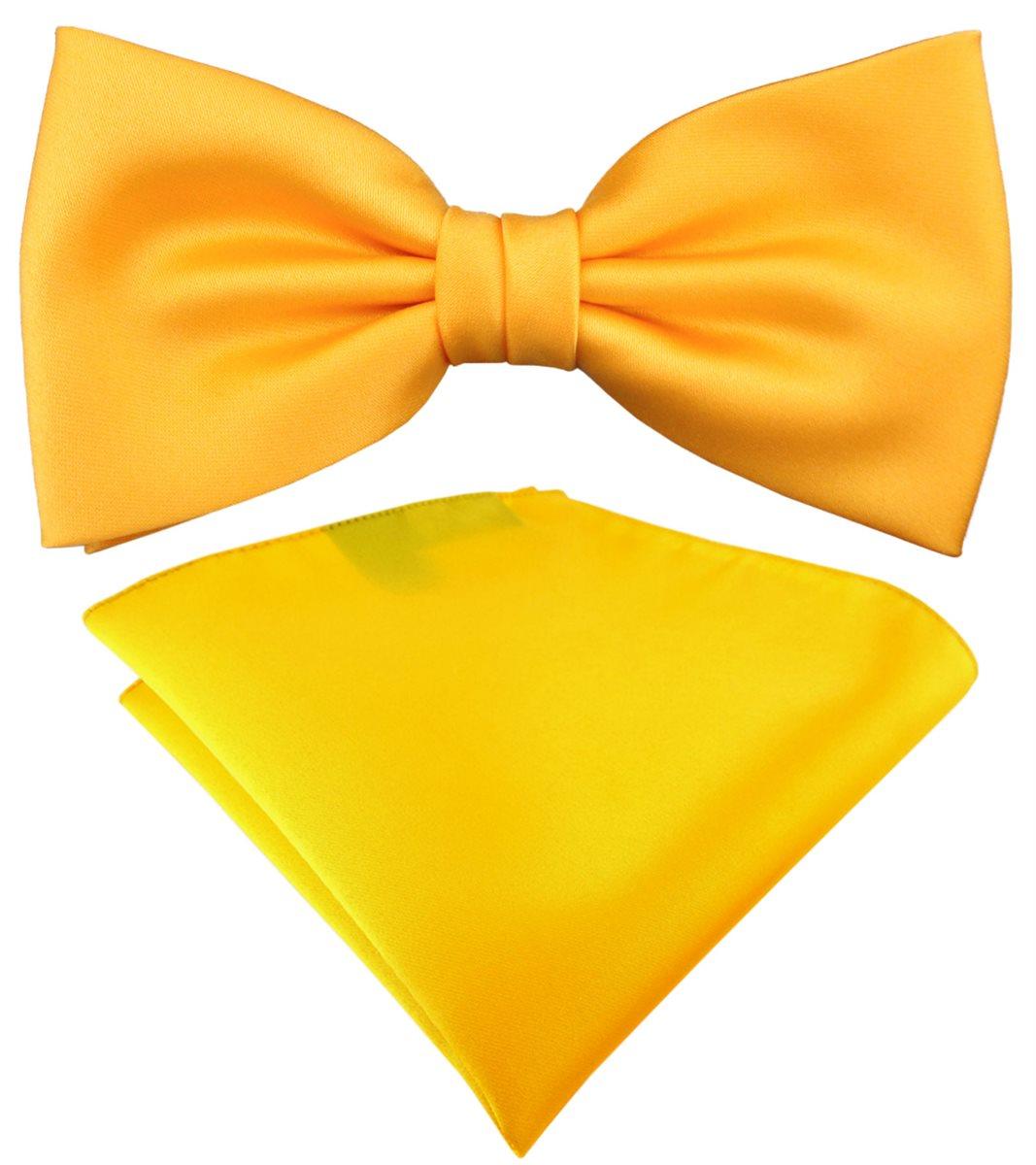 TigerTie Satin Fliege Einstecktuch Uni einfarbig Geschenkbox